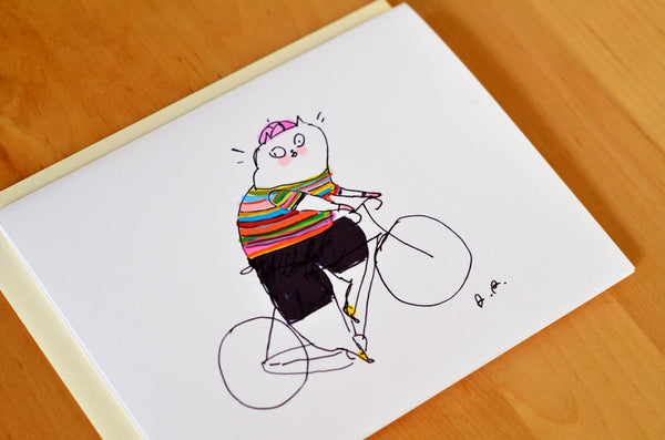 Striped Jersey- Bike Card - Paul Smith Inspired