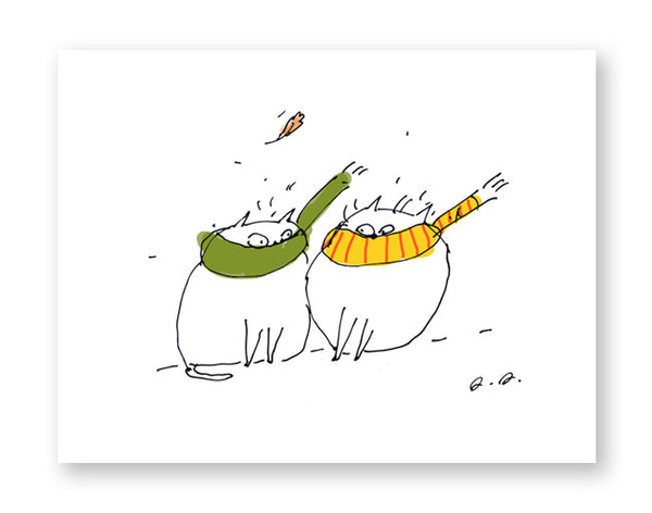 Windy Day - Funny Cat Card