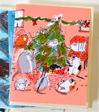 Christmas Card- Christmas Cat Party