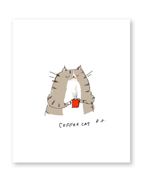 Coffee Cat Print
