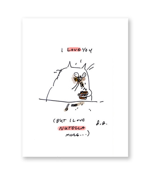 Nutella Cat - Funny Love Card