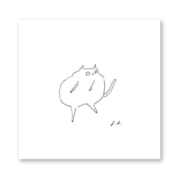 The Dancing Cat Print
