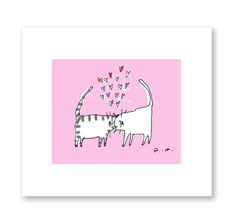 Lotsa Love - Headbutt Cat Print