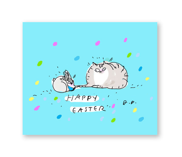 Happy Easter - Cat and Bunny Friend