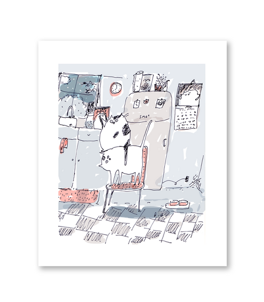 While You Were Sleeping - Cat Print