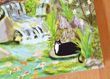 Koi Pond Kitty Card