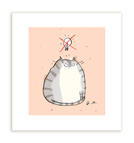 No Idea - Cat print