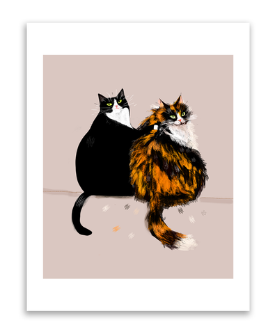 Cat Buddies - Art Print