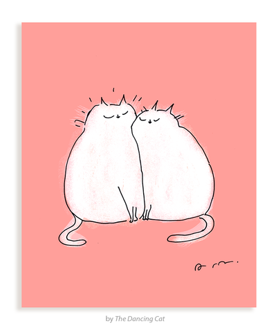 Love You- Kitty Cuddle Card
