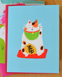 Japanese Cat Cards- Mixed Set of 4