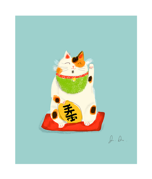 Lucky Cat- Fine Art Print