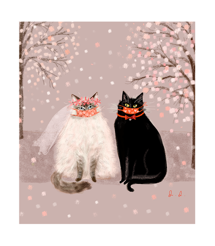 Love is Not Canceled- Wedding Cat Print