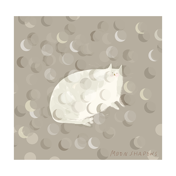 Moon Shadows Cat Print