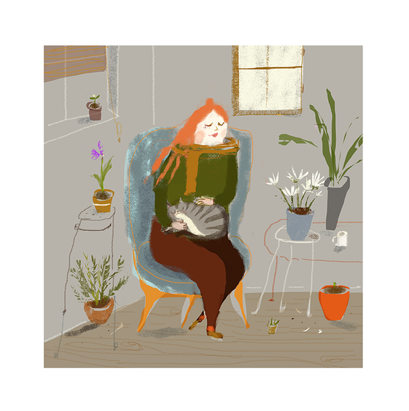 Cat Lady - House Plants - Fine Art Print