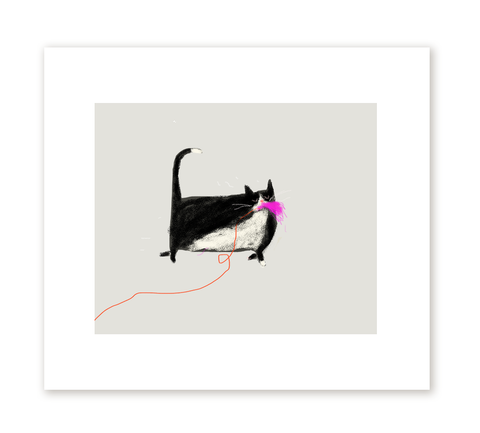 Domestic Predator- The Cat Toy - Fine Art Print