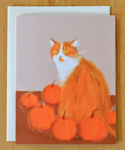 Favorite Pumpkin in the Patch- Cat Card