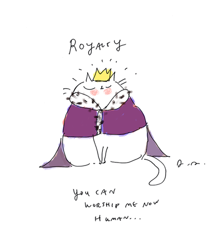 Royal Cat Print