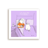 Self Isolation Cat Card- Square Card