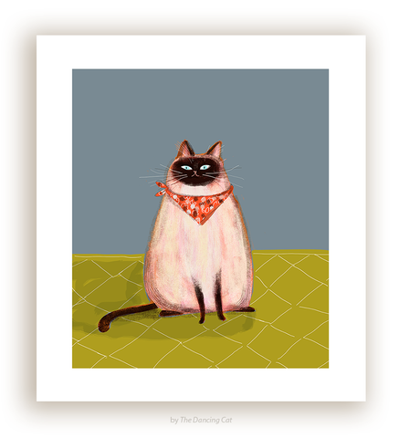 Miss Lucy's Ready to Eat - Siamese Cat Print