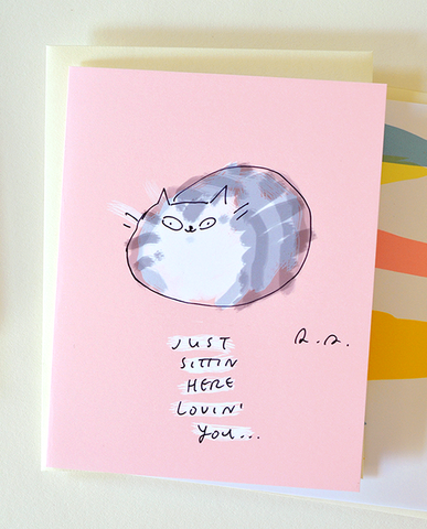 Just sittin' here lovin' you - Cat Card