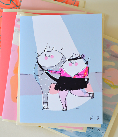 The Purrfect Pair Cat Card