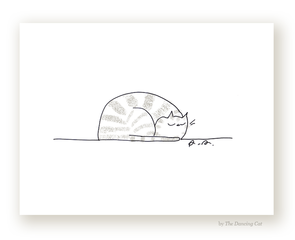 Sleepy Cat - Fine Art Print