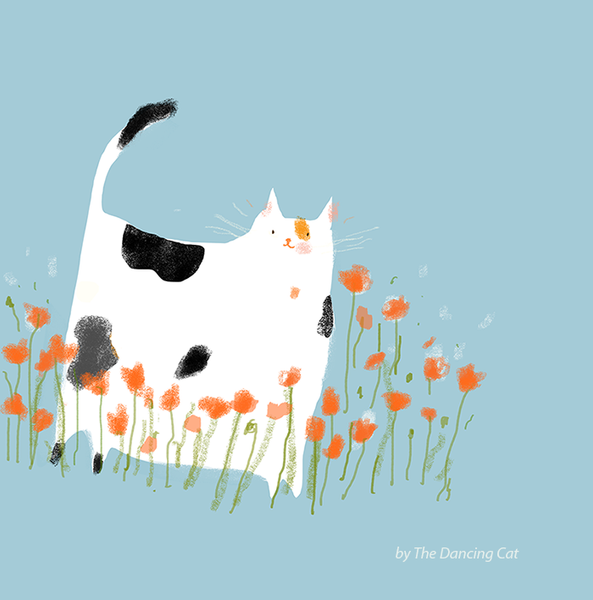 Miss Poppy - Cat Print