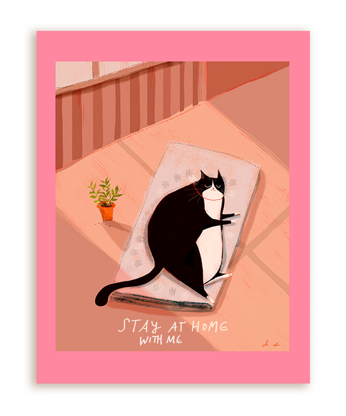 Stay At Home With Me - Cat Card