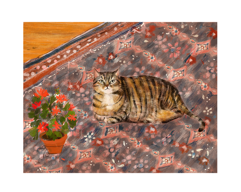 Swiss Miss - Cat Print
