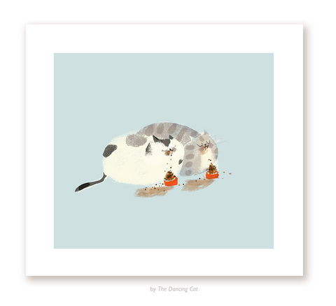 Dinner For Two - Cat Print