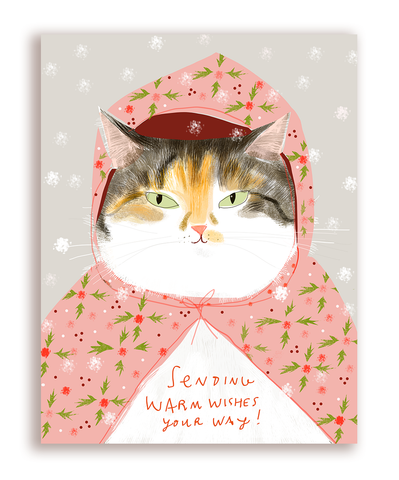 Warm Wishes Cat card