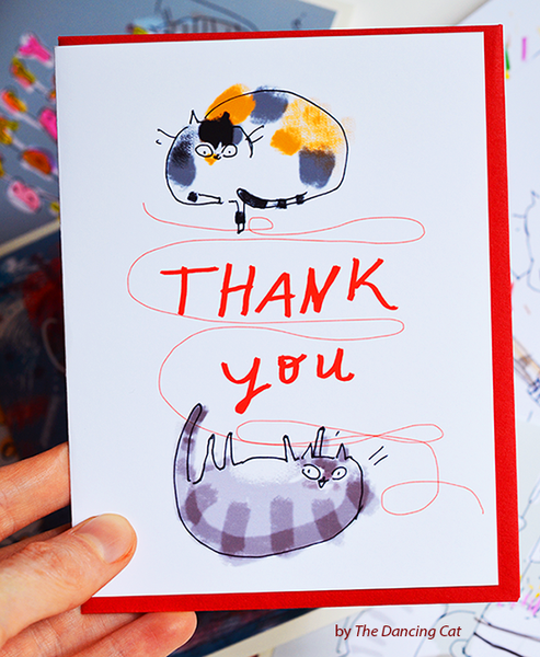 Thank You Card - String Cats