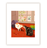 Indoor Kitty Kiss- The Kiss Cat Print