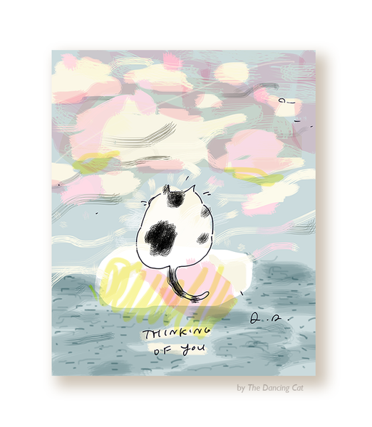Thinking of You- Out to Sea - Cat Card