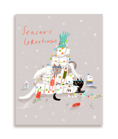 TP Tree- Season's Greetings - Christmas Cat Card
