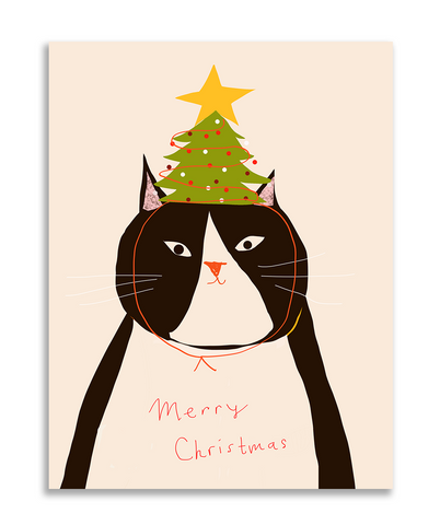 Tree Hat Christmas Card