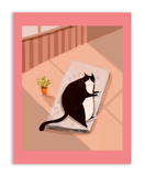 Tuxie Cat Nap Postcards - Set of 12