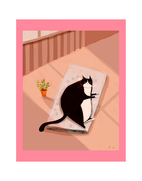 Stay At Home (and nap) - Cat Print