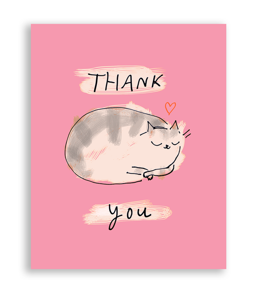 Thank You Cat Card - Sweet Kitty