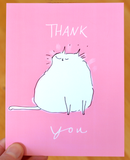 Thank You Cat Postcards - Set of 12