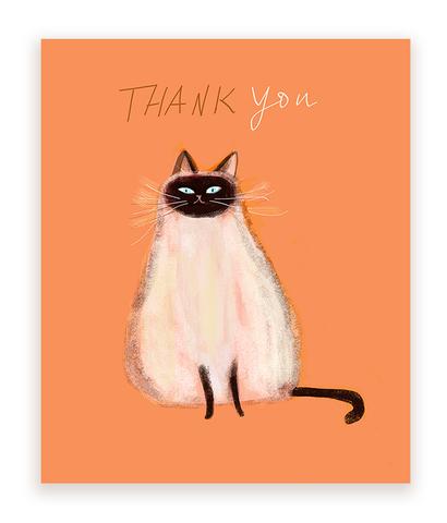 Thank You Cat Card- Siamese Beauty