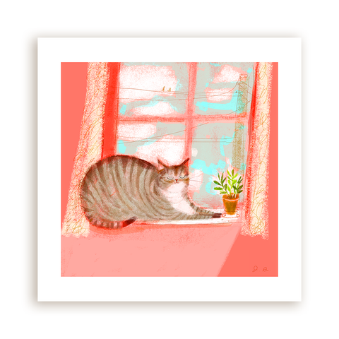 Window Cat Print