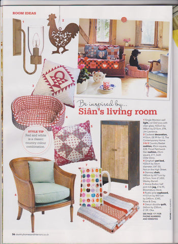 Red Star Little Cushion in Country Homes & Interiors
