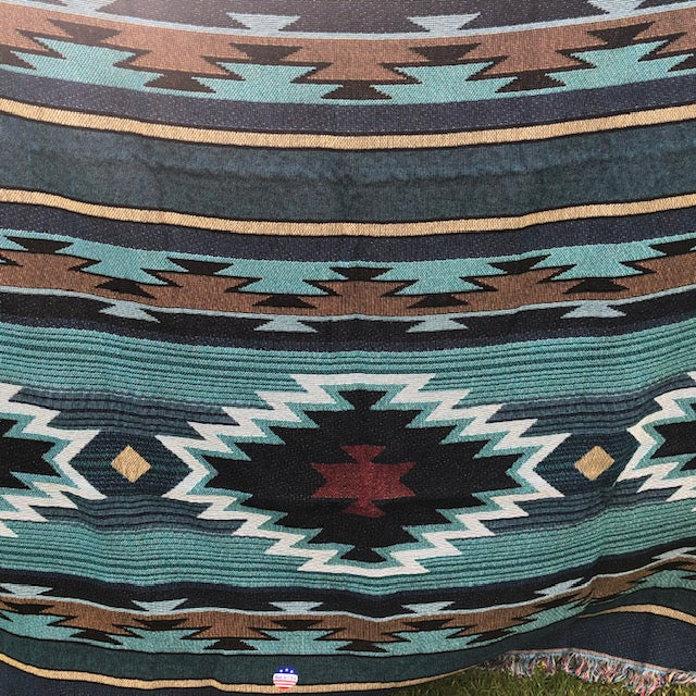 Native American Style Patterns on throw