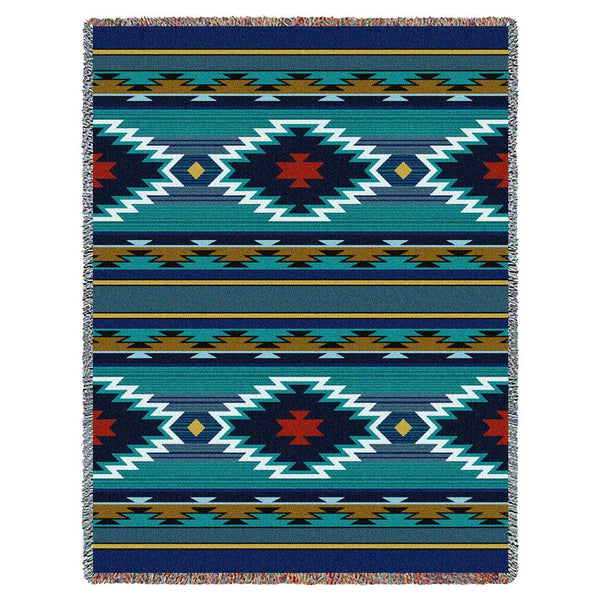 Native American Style Woven Throw Blanket UK