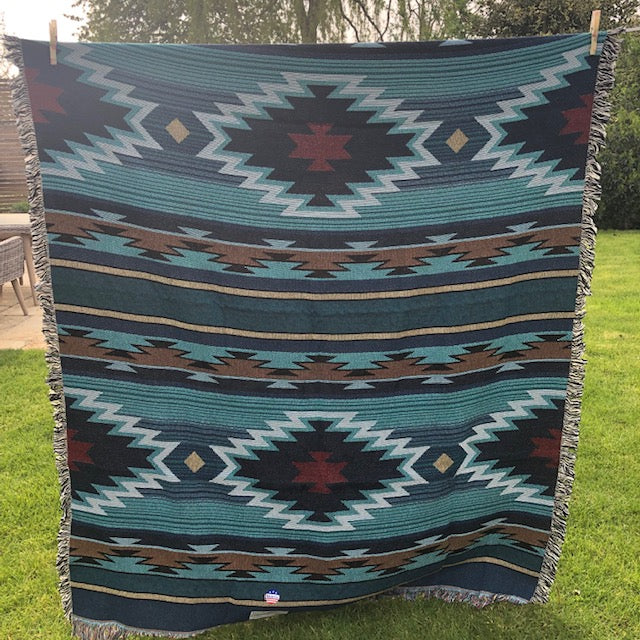 Native American Style Woven Blanket UK