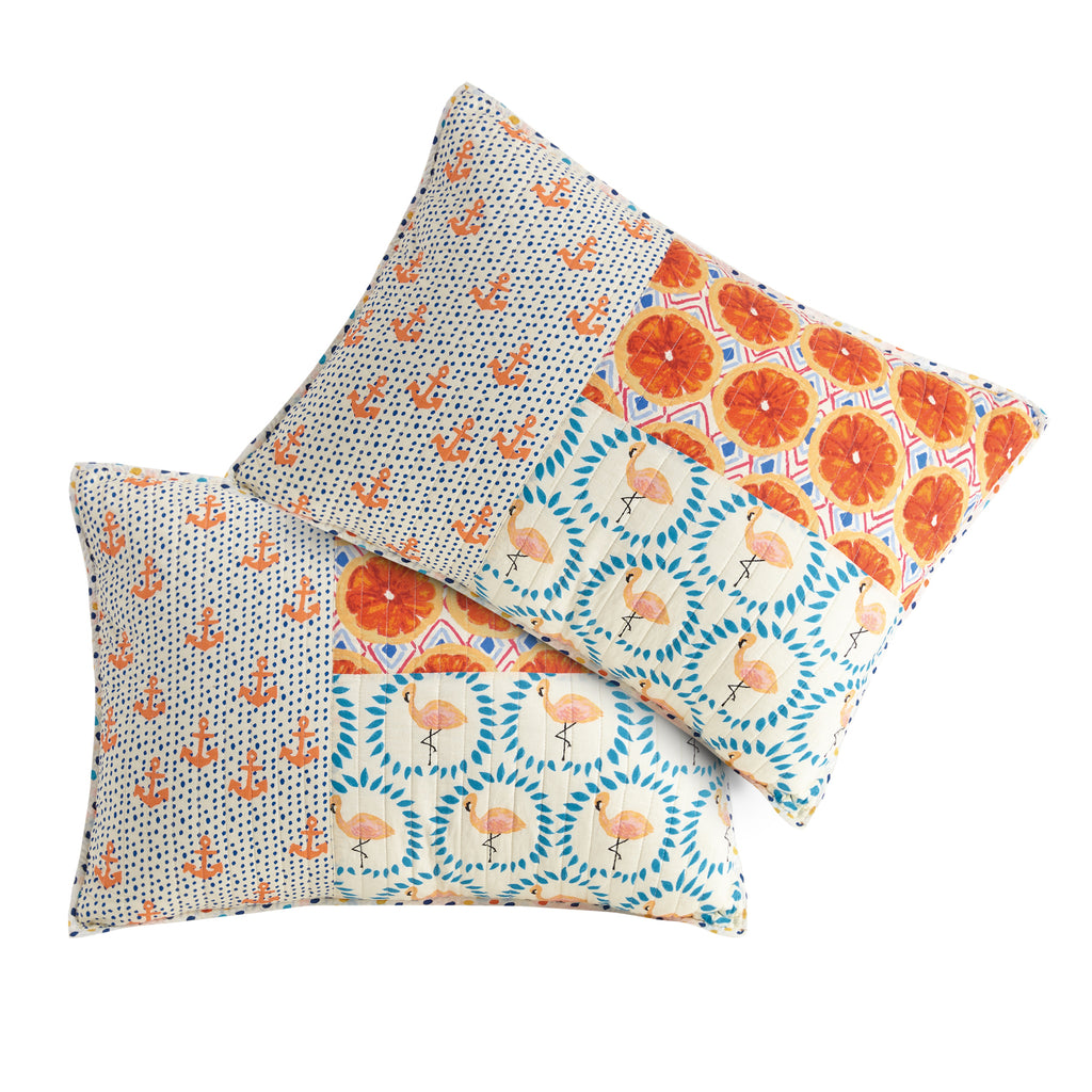 Matching Patchwork Pillow Shams