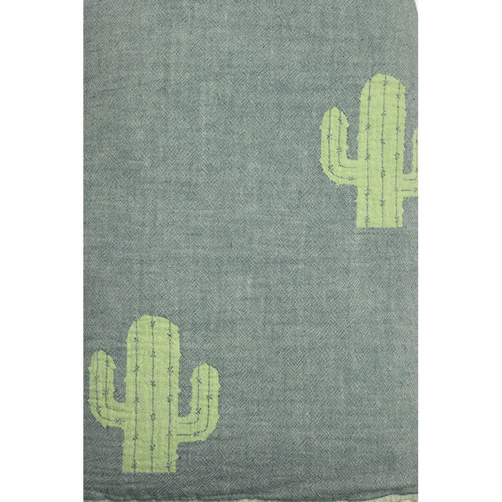 Woven Cactus Throw Blanket