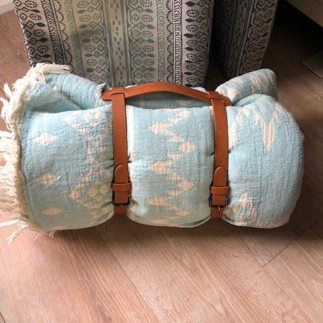 Mint Sedona Throw with Carrier Straps