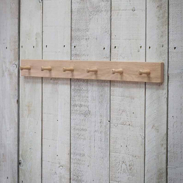 Raw Oak Peg Rail
